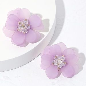 NEW! 🌸 BOHO Purple Flower Shaped Stud Earrings